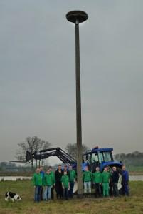 Bau Storchennest mit Gruppe und Mast50